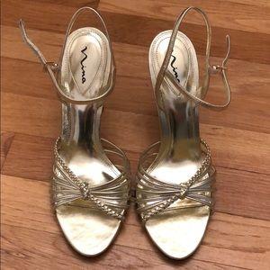 Gold dress sandal